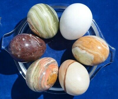 """3"""" Marble and Onyx Eggs (quantiry 6)"""