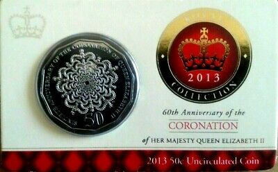 2013 50c UNC Royal Collection - 60th Anniversary of the Coronation Of QEII