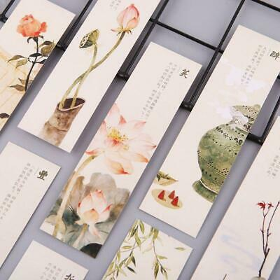 30pcs Creative Chinese Style Paper Bookmarks Painting Cards  Retro Beautiful r
