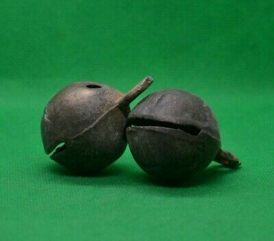 Pair Of Ancient Celtic Votive Bronze Bells - Working  - 300/100 Bc