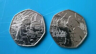 Paddington Bear 2018 50p Coin Set of Two UNC from Sealed Bags +FREE Sign For P&P