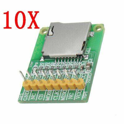 10pcs 3.5V / 5V Micro SD Card Module TF Card Reader SDIO/SPI Interface Mini TF