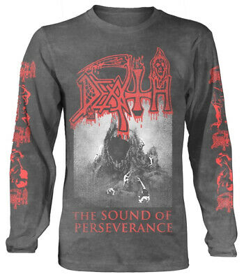 Death 'The Sound Of Perseverance' (Charcoal) LS Shirt - NEW