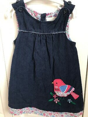 JoJo Maman Bebe 2-3 Years Dark Navy Cord Dress