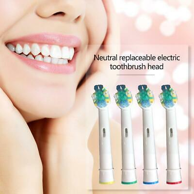4pcs Dual Clean Electric Toothbrush Brush Heads Replacement Fit for Braun Oral-B