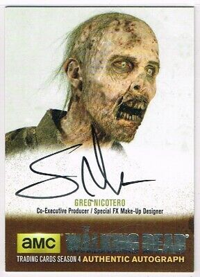 The Walking Dead SEASON 4 PART 1 ☆ SILVER PARALLEL AUTOGRAPH CARD ☆ Greg N. #GN3