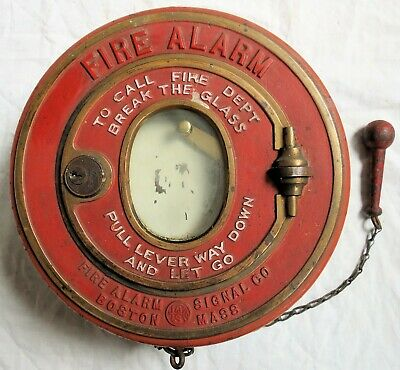 Fire Alarm Signal Co Boston Cast Iron Fire Bell Old Vtg Antique
