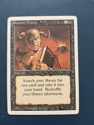 Demonic Tutor Revised Edition Magic the Gathering / MTG Near mint condition