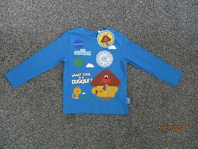 Hey Duggee Long Sleeved T-Shirt Top Boys Girls Hey Duggie Dougie Character Wear