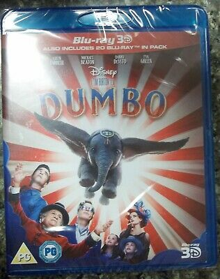 Dumbo Blu-ray 3D, 3D + 2D Blu-Ray Region Free New No Slip Cover.