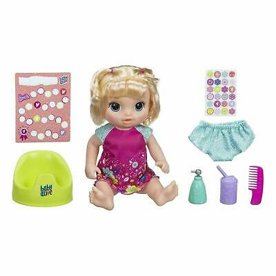 Kids Baby Doll Alive Potty Dance Blonde Hair Baby Figure Playset Christmas Gift