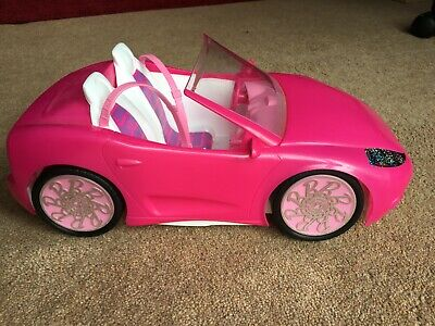 Barbie Doll Sports Car by Mattel, two seat toy car, Pink