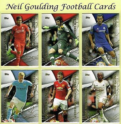Topps PREMIER GOLD 2015 ☆ NEW SIGNINGS ☆ Football Cards #NS1 to #NS20