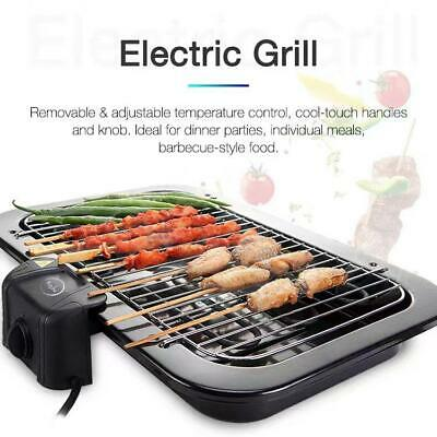 Kitche Electric Indoor Bbq - Barbecue Grill Health Grill Portable Smoke Reducing