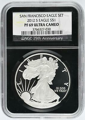 2012-S 1 oz Silver American Eagle - NGC PF69 Ultra Cameo