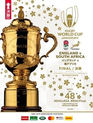 2019 RUGBY WORLD CUP FINAL - England v South Africa programme