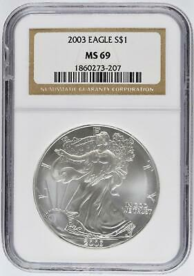 2003 1 oz Silver American Eagle -  NGC - MS69
