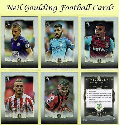 Topps PREMIER GOLD 2016 ☆ PREMIER PORTRAITS ☆ Football Cards #PP1 to #PP20