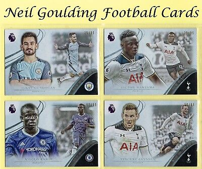 Topps PREMIER GOLD 2016 ☆ SILVER PARALLEL NEW SIGNINGS ☆ Football Cards #/99