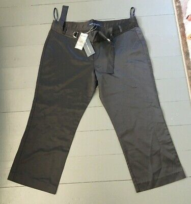 French Connection Black Trousers Capri Mid Length Size 14 BNWT RRP £65