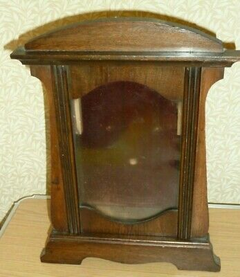 Empty Art Nouveau wooden clock case