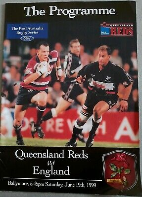 Queensland Reds v ENGLAND 19th June 1988  rugby programme