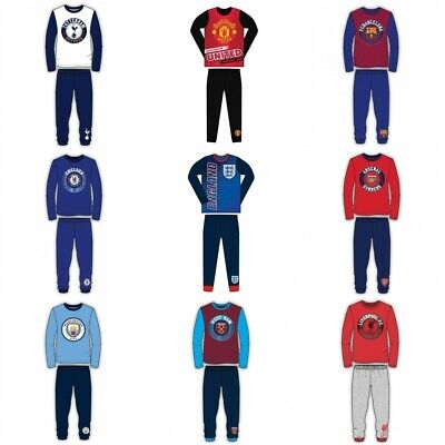 Boys Girls Official Kids Children Child Football Pyjamas Pjs Set Age 4-6 Yrs