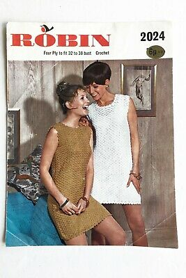 Robin Crochet Dress Pattern 2024 - Vintage 1970s Crochet Pattern