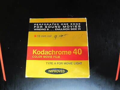 Kodachrome 40 Color Movie Film Type A ~ For 16 Mm Roll Camera Exp 1981 * Kma 455