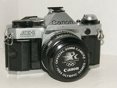 Vintage Canon AE-1 Program Camera with FD 50mm F/1.8 Lens