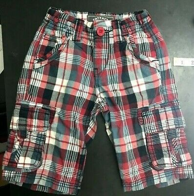 Fat face little boys 4-5 years check trousers with pockets 100% cotton