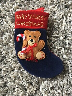Babys First Christmas Traditional Stocking BNWT