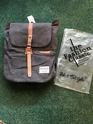 HotStyle Waterproof Canvas Vintage Backpack - Fits 15 inch Laptop