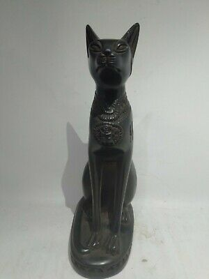 RARE ANTIQUE ANCIENT EGYPTIAN Statue of Cat Bast-Bastet 1121–1019 BC