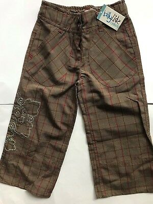 New with tags BNWT girls billy lids check pants trousers sz 6 yrs LAST PAIR!