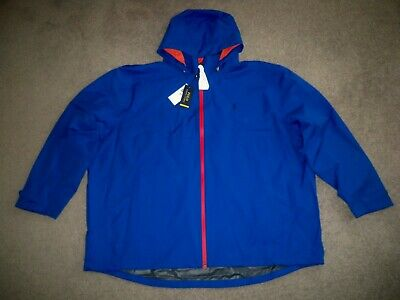Men's NWT POLO RALPH LAUREN Performance Water-Resistant Jacket 4XB ROYAL BLUE