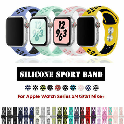Apple Watch Band iWatch 40/44mm 38/42mm Sports Strap Silicone for 5 4 3 2 Series