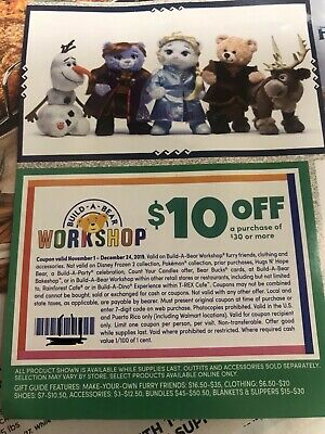 BUILD A BEAR Workshop $10 Off $30 Coupon EXPIRES 12/24/19 Christmas Gift Coupon