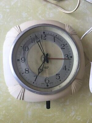 Vintage Bakelits Smith Sectic Electric Clock Made In England