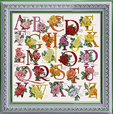 The Rose Alphabet cross stitch chart