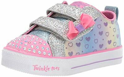 Skechers Kids Girls' Shuffle LITE-Sparkly Hearts Sneaker, 9 Medium US Toddler