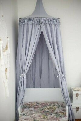 Metallic Grey bedroom or play space canopy. Great for making a reading nook