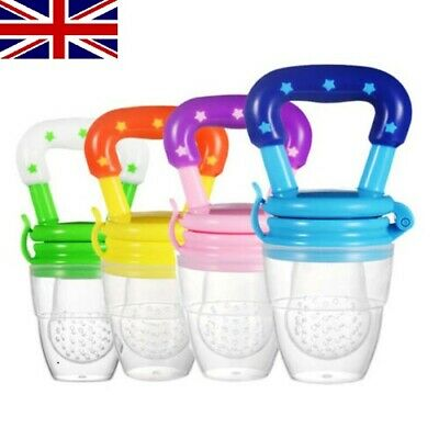 Baby Dummy Feeding Nibbles Weaning Nutrition Pacifier Fresh Fruit Food Feeder SS