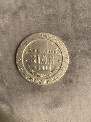 Vintage 1966 Mackie's Star Casino Winnemucca Nevada Token Chip Dollar Gaming