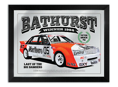 Bathurst Winner 1984 Peter Brock Hdt Vk Commodore Bar Mirror Collection Series