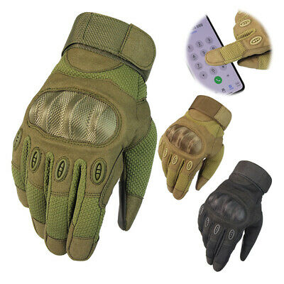 Tactical Hard Knuckle Gloves Army Military Combat Assault Airsoft Driving Patrol