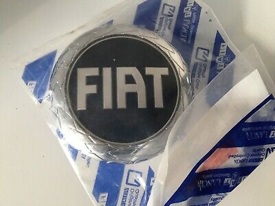 Genuine Fiat Blue and Chrome Grille Badge - 46832366 - Brand New