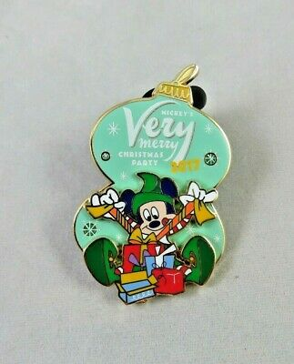 Disney WDW Pin Mickey's Very Merry Christmas Party 2017 Logo Elf Mickey Mouse