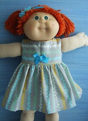 "16"" CABBAGE PATCH Dolls Clothes / DRESS*HEADBAND  / coloured lines"