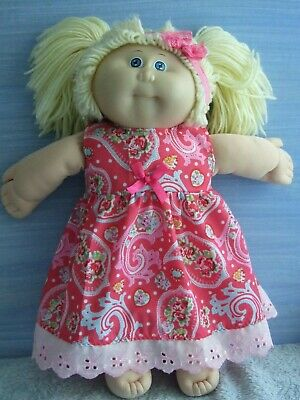 "16"" CABBAGE PATCH Dolls Clothes / DRESS*HEADBAND  / pink paisley"